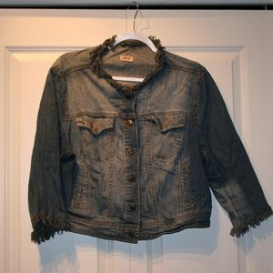 One-of-a-Kind Jean Jacket XL